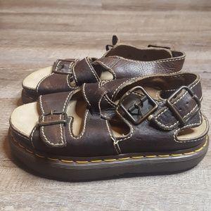 Dr. Martens Youth Fisherman platform Sandals 5